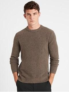 Wool-Blend Crew-Neck Sweater