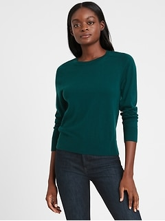 Washable Merino Crew-Neck Sweater