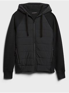 Quilted Scuba Hoodie Sweatshirt