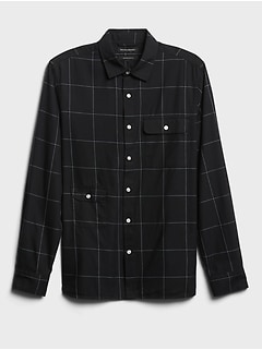 Untucked Slim-Fit Cotton-TENCEL™ Shirt