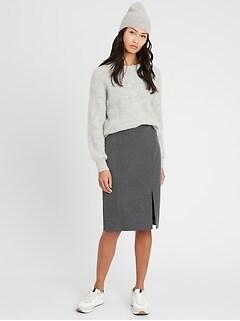Petite 24-Hour Ponte Pencil Skirt