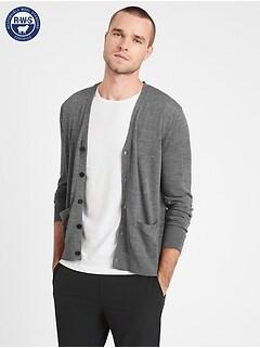 Merino Cardigan Sweater in Responsible Wool