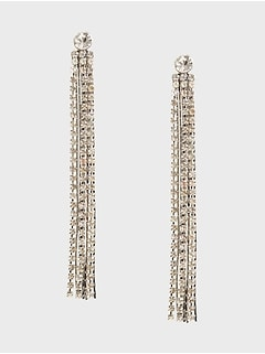 Multi Cupchain Linear Earrings
