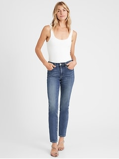 High-Rise Straight Ankle Jean