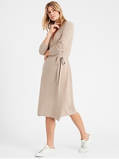 Petite Wrap Sweater Dress