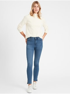 High-Rise Legging Jean with Ankle Zips