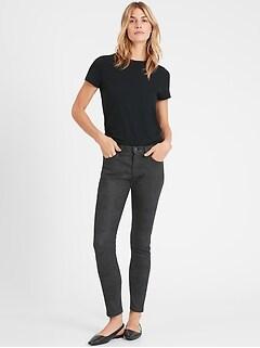 Mid-Rise Skinny Snake Print Jean