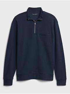 Organic Cotton Half-Zip Sweatshirt
