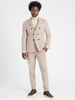 Heritage Slim Double-Breasted Corduroy Suit Jacket