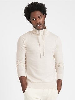 Organic Cotton Funnel-Neck Sweater