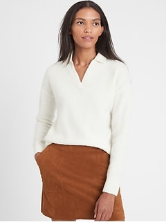 Petite Relaxed Sweater Polo