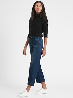 Petite High-Rise Wide-Leg Cropped Jean