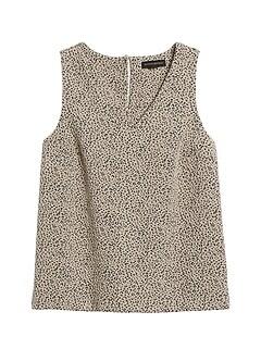 Petite Leopard V-Neck Top