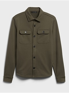 French Terry Shirt Jacket
