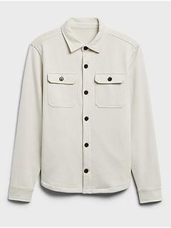 Veste-chemise en jersey bouclette