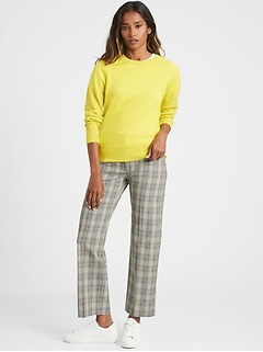 High-Rise Relaxed Straight-Fit Pant