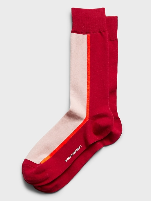 Modern Color-Block Sock