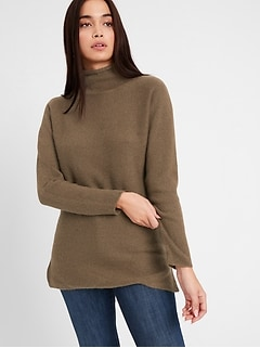 Funnel-Neck Sweater Tunic