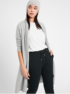 Brushed Cashmere Duster Cardigan Sweater