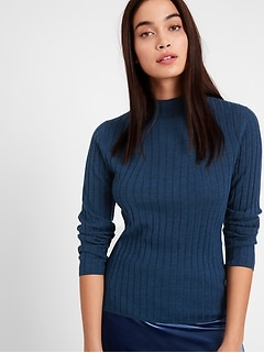 Merino Ribbed Sweater in Responsible Wool
