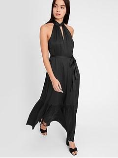 Satin Twisted Maxi Dress