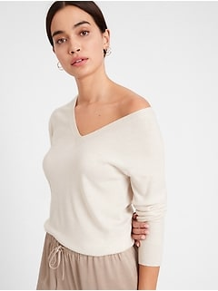 Seamless Merino V-Neck Sweater in Responsible Wool