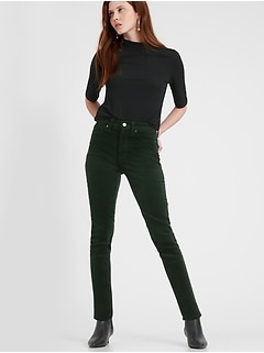 Petite High-Rise Skinny Stretch-Corduroy Pant