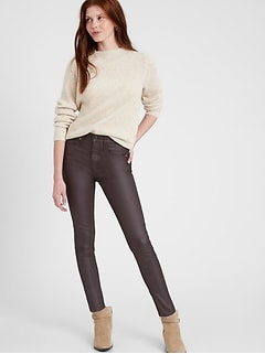 High-Rise Skinny Coated Jean