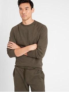 Double-Knit Crew-Neck Sweatshirt