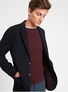 Unlined Wool-Blend Jacket