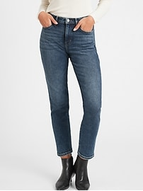 High-Rise Straight-Fit Ankle Jean
