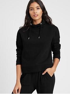 Funnel-Neck Sweatshirt