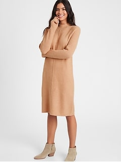 Mock-Neck Sweater Dress
