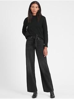 Petite High-Rise Wide-Leg Jean