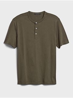 Organic Soft Wash Henley T-Shirt