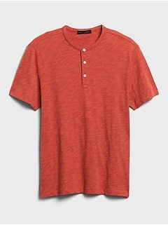 T-shirt henley en coton biologique ultradoux