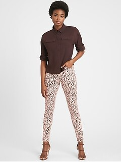 Petite High-Rise Skinny Animal Print Jean