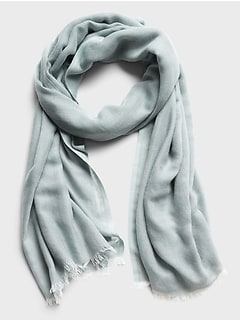 Solid Gauze Layering Scarf