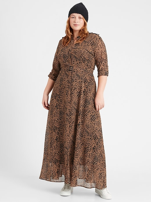 Petite Heritage Sheer Maxi Shirtdress