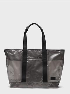 Laminated Mesh Large Tote Bag