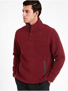 Sherpa Stand-Collar Sweatshirt
