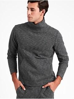 French Terry Funnel-Neck Sweatshirt