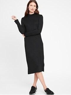 Luxespun Mock-Neck Dress