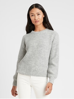 Petite Heritage Ribbed Crew-Neck Sweater