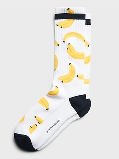 Banana Print Sock
