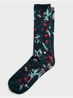 Oversized Floral Sock