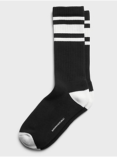 Stripe Athletic Sock with COOLMAX® Technology