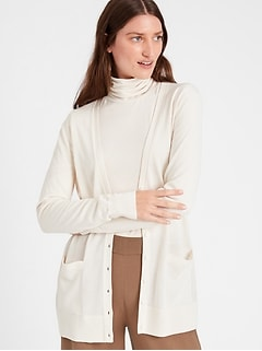 Merino Long Cardigan Sweater in Responsible Wool