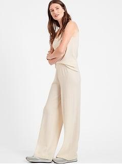 Cashmere Wide-Leg Pant