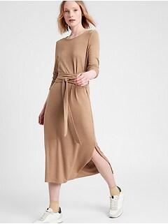 Luxespun Tie-Waist Dress